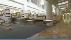 長野大学図書館内のシーンを想定して生成した日本刀の再現CG