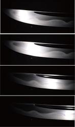 実物の日本刀の反射