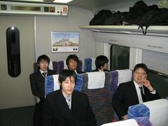 新幹線での移動