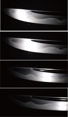 日本刀の実物の反射