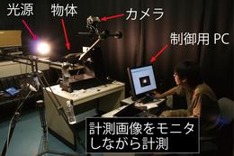独自開発の日本刀の反射光特性計測装置