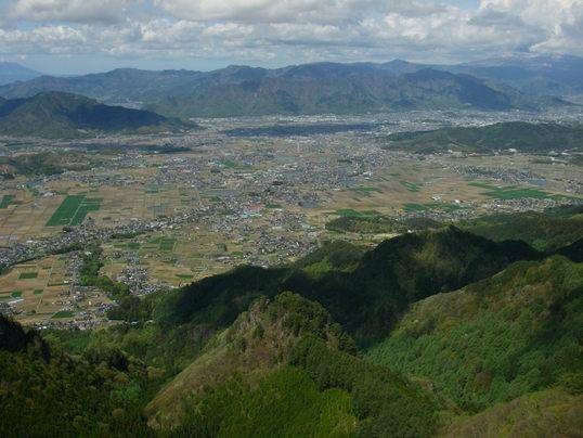 独鈷山山頂から眺めた塩田平