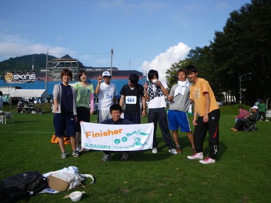 第2回菅平スカイライントレイルランレースに出場したコミュニティ体験のメンバー
