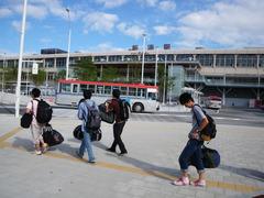 8月25日 新潟駅から新潟港へバス移動