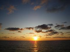 8月25日 日本海に沈む夕日