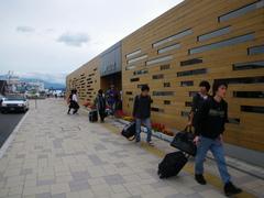 8月27日 知床斜里駅に到着
