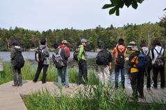 8月27日 湖の水と水草を観察