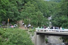 8月27日 カムイワッカの滝に到着