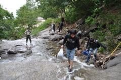8月27日 カムイワッカの滝を登