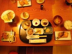 8月27日 民宿「ランタン」の夕食