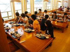 8月28日 海を見ながら朝食を食べる