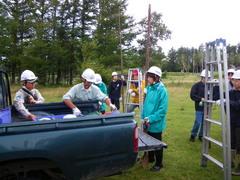 8月28日 シカ柵の修復作業の開始