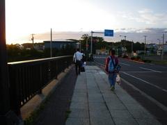 8月29日 知床博物館からライダーハウス「クリオネ」まで徒歩50分