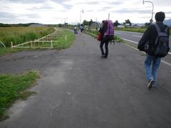 8月30日 知床斜里駅まで徒歩30分