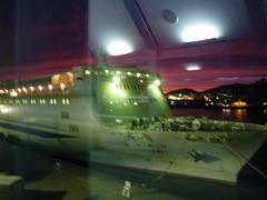 8月30日 新潟行のフェリーに乗船