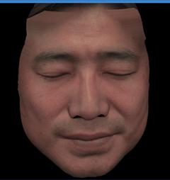 人間の顔の3DCG(正面)