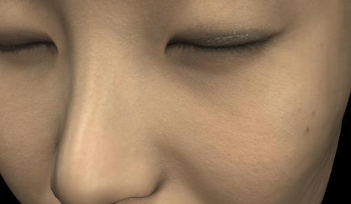 女性の顔の3DCG