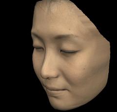 計測した顔の形状から再現した顔のCG