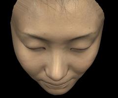 人間の顔を3DCGで再現