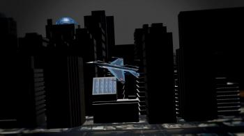 街中を飛んでいるシーン2
