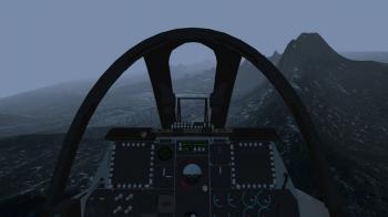 操縦席から見た景色