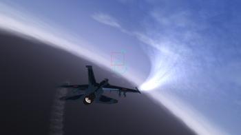 翼端から出る飛行機雲