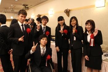 他の受賞者と企業情報学部 4年 松田宗さん