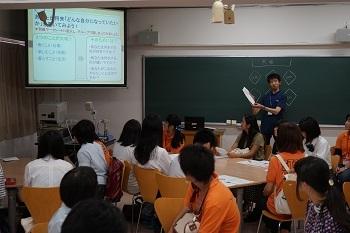 模擬授業の様子(社会福祉学部)