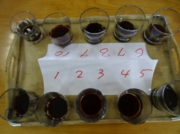手作り醤油、市販のものなど準備した10種類の醤油
