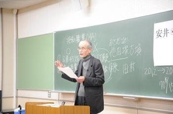 最終講義を行う安井教授