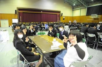 入学式後に行われた生協主催の新入生歓迎イベントの様子