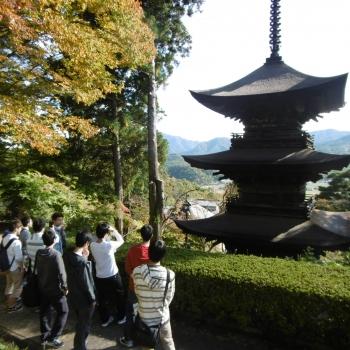 大法寺の視察の様子