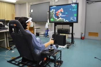 ゲーム機の操縦席