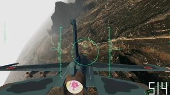 学生が開発したフライトシミュレータの画面