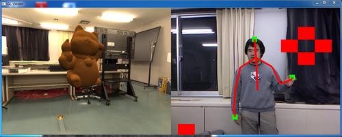 Kinectを用いた美術品のデジタル展示システム